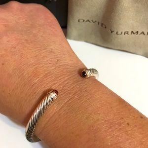 David Yurman 5mm Pink Tourmaline/diamond bracelet